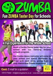 Dancing Dreams Zumba Taster Experience Day for the Whole School